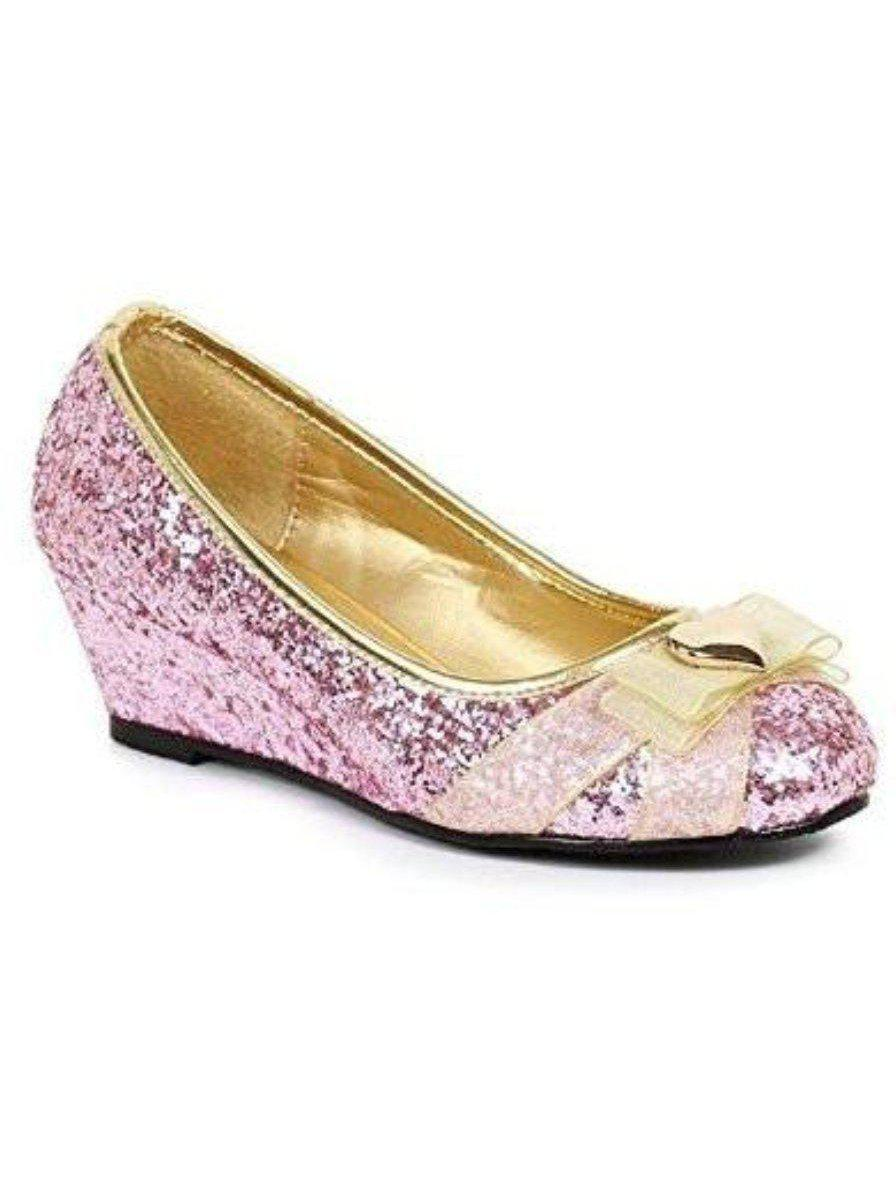 "Ellie schoen E-171-PRINCESS 1 ""hak Glitter prinses kinderschoen met hartdecor. Ellie Shoes"