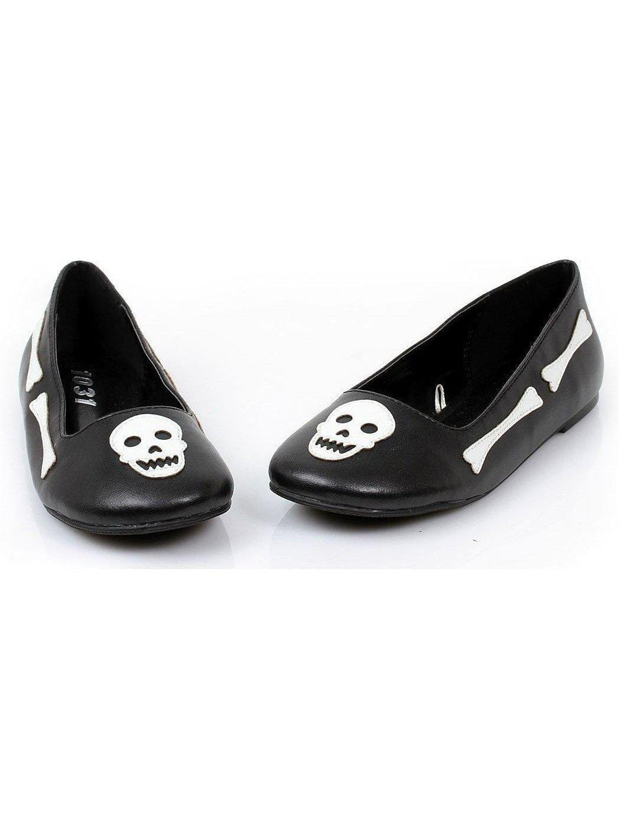 Ellie Shoes E-013-Bones 0 Bones And Skull Ballet Flat Scarpe Ellie per bambini