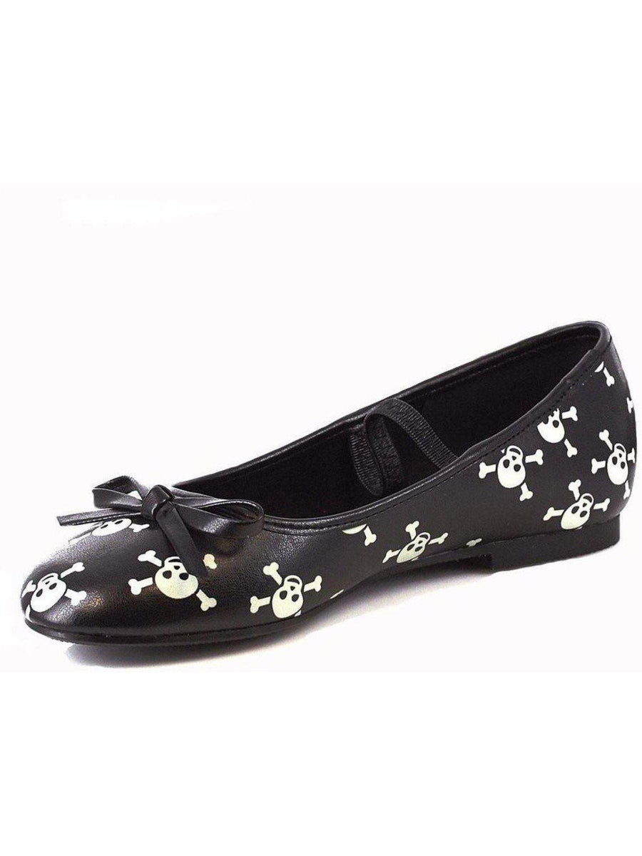 Ellie Shoes E-013-Skull Kinderen 0 Glow In The Dark Skull Ballet Flat Ellie Shoes