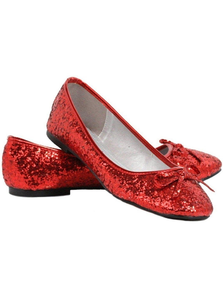 Ellie Shoes E-016-Mila-G Volwassen glitter plat met strik Ellie Shoes