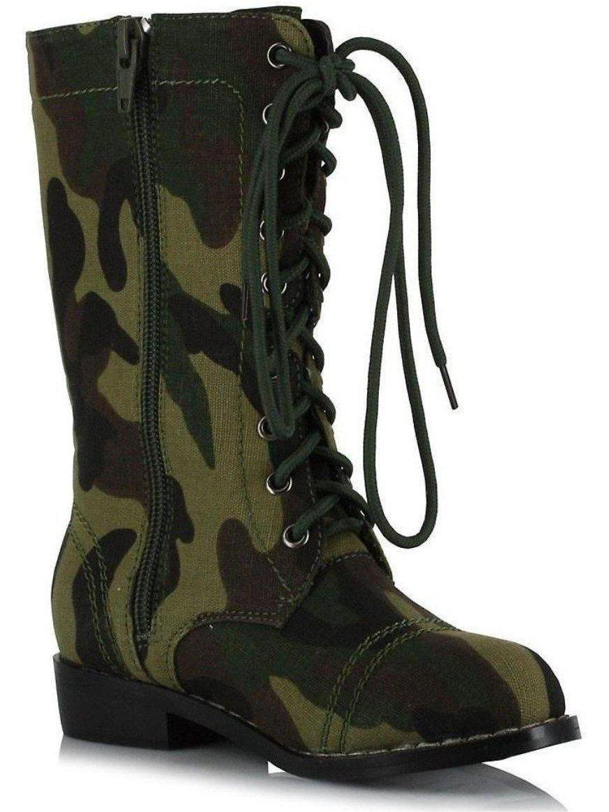 Ellie Shoes E-101-Bootcamp 1 Heel Camo Ankle Boot Children Ellie Shoes