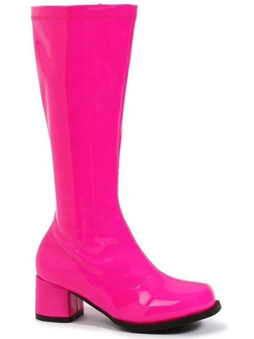 Ellie Shoes E-175-Dora-N 1 Heel Bambini Neon Gogo Boot Ellie Shoes