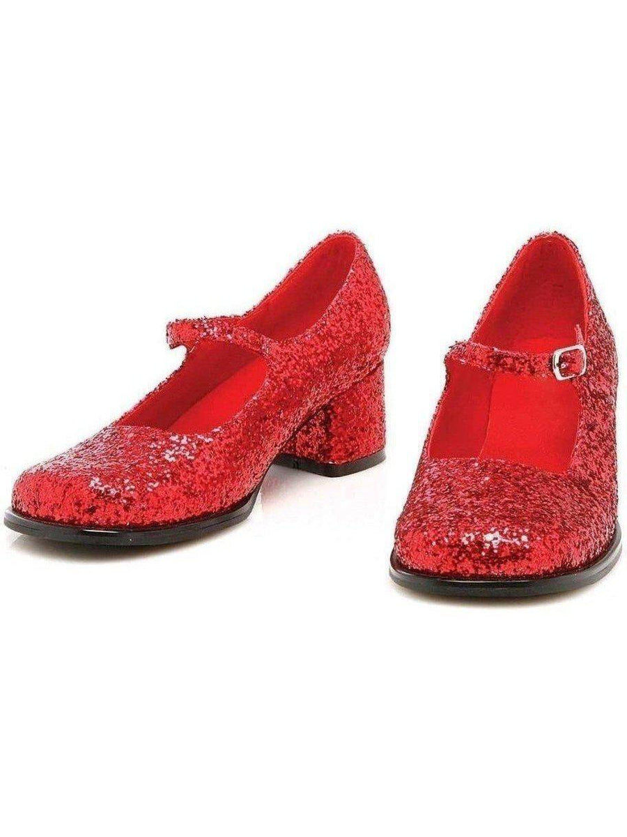 Ellie Shoes E-175-Eden-G 1 Heel Red Glitter Maryjane Ellie Shoes voor kinderen