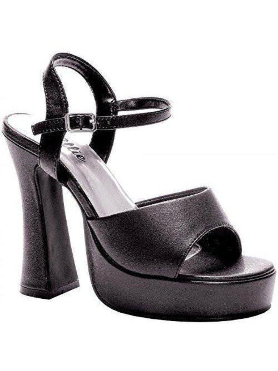 "Ellie Shoes E-557-LEA 5 ""Chunky Heel Sandal. Ellie Shoes"