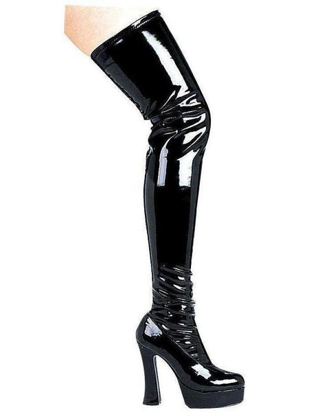 "Ellie Shoes E-Thrill 5 ""Chunky Heel Thigh High Stretch Boots Ellie Shoes"