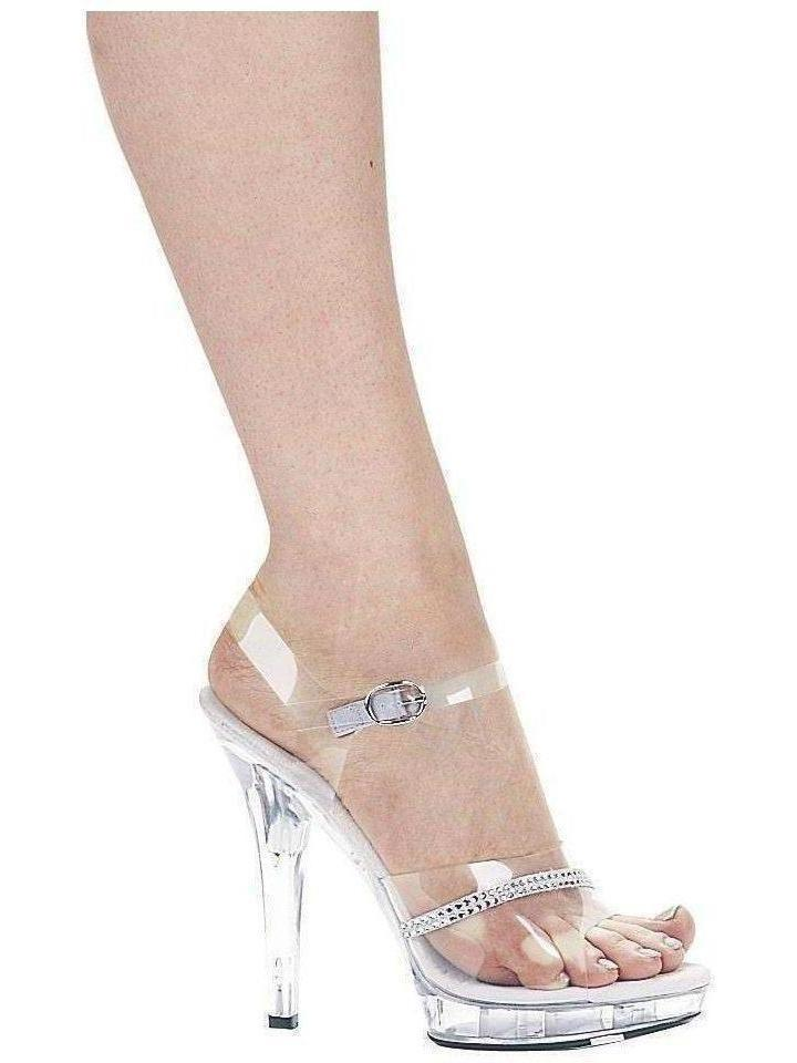 "Ellie Shoes IS-EM-Jewel 5 ""Heel Clear Rhinestone Sandal, størrelse 8 Ellie Shoes"