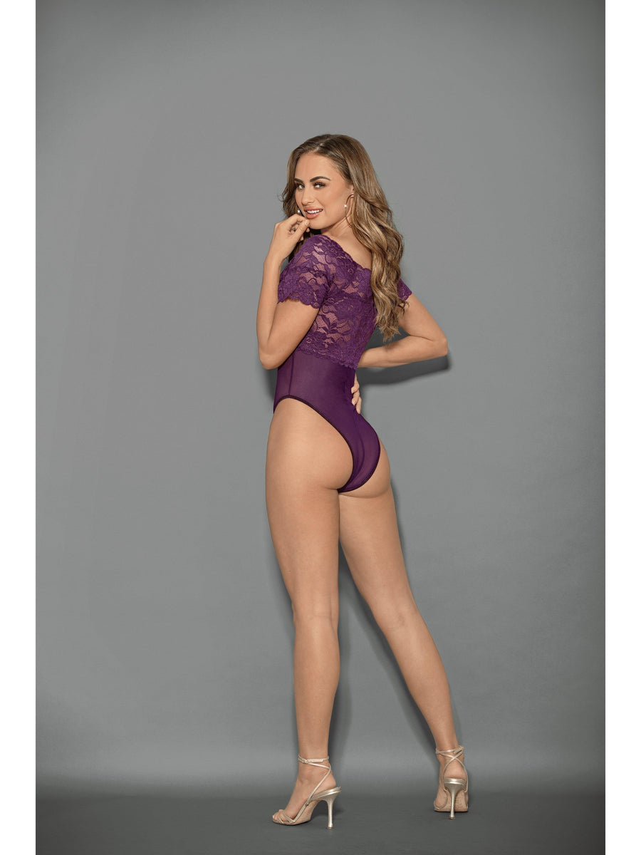 Escante 32419 Upea neliökaula-body Teddy-Escante-S-Plum-SatinBoutique