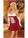 IS-IA-X3230 Red Stretch Velvet & Faux Fur Christmas Chemise IS-Shirley of Hollywood