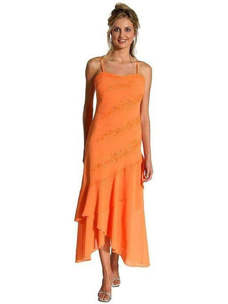 IS-LM-13503 Abendkleid mit geschichtetem Rock Größe Medium On Sale Kleider West