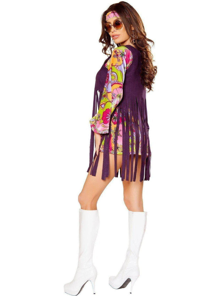 Roma IS-RM-10083 3pc Groovy Hippie Women's Costume, Size: Large Roma Costume