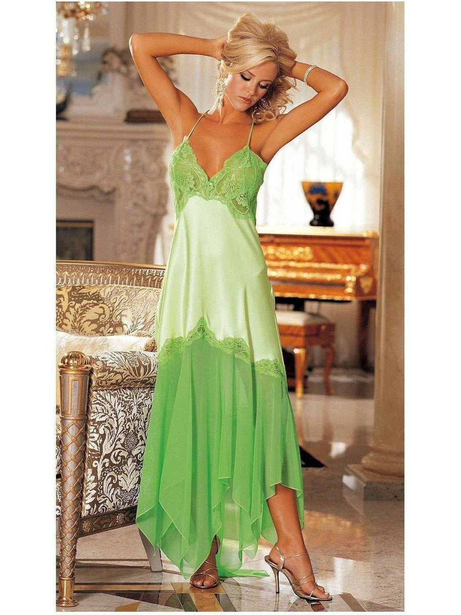 Shirley von Hollywood IS-SOH-20364 Elegante Charmeuse und Chiffon Long Gown IS-Shirley von Hollywood