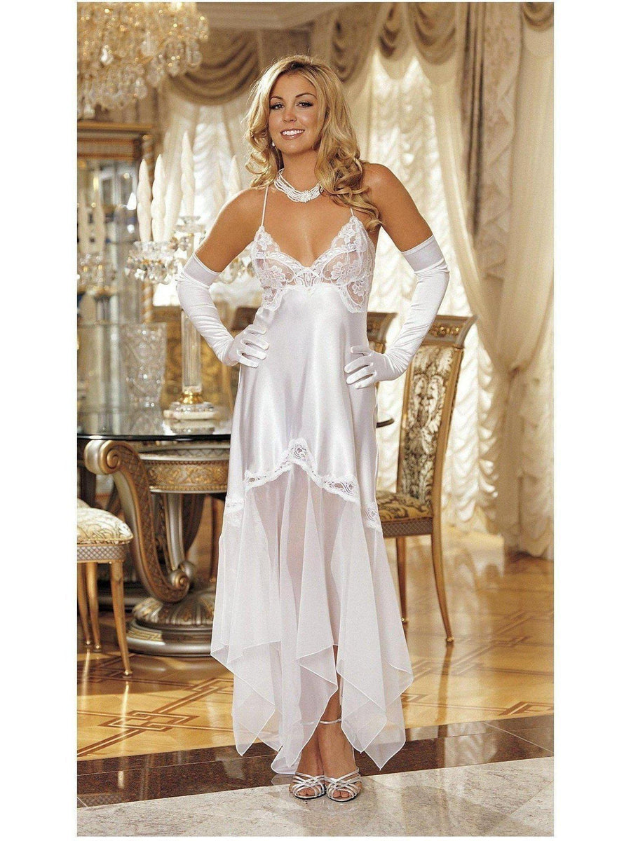 Shirley of Hollywood IS-SOH-20364E Elegante abito lungo in charmeuse e chiffon IS-Shirley of Hollywood