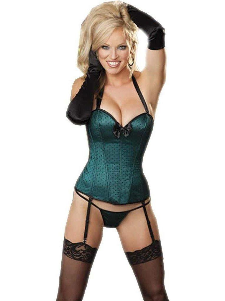 Shirley of Hollywood IS-SOH-29086 Halter Corset Turkis Størrelse 38 IS-Shirley of Hollywood