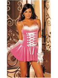 Shirley of Hollywood IS-SOH-3205 Chemise of Stretch Velvet Marabou Feather Trim IS-Shirley of Hollywood