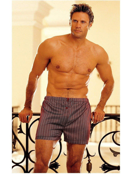 Shirley of Hollywood IS-SOH-80001 Men Charmeuse Stripe Boxer Shorts IS-Shirley of Hollywood