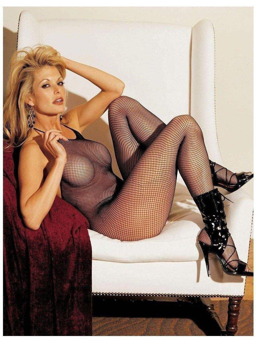 Shirley of Hollywood IS-SOH-90025 Fishnet Halter Body Stockings IS-Shirley of Hollywood