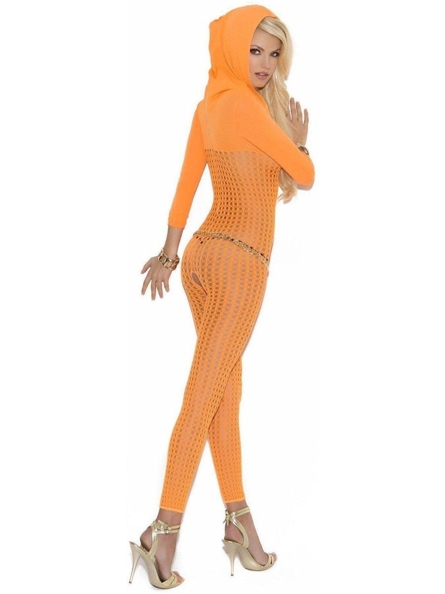 Vivace EM-8011 Crochet bodystocking with 3/4 sleeves and hood Elegant Moments