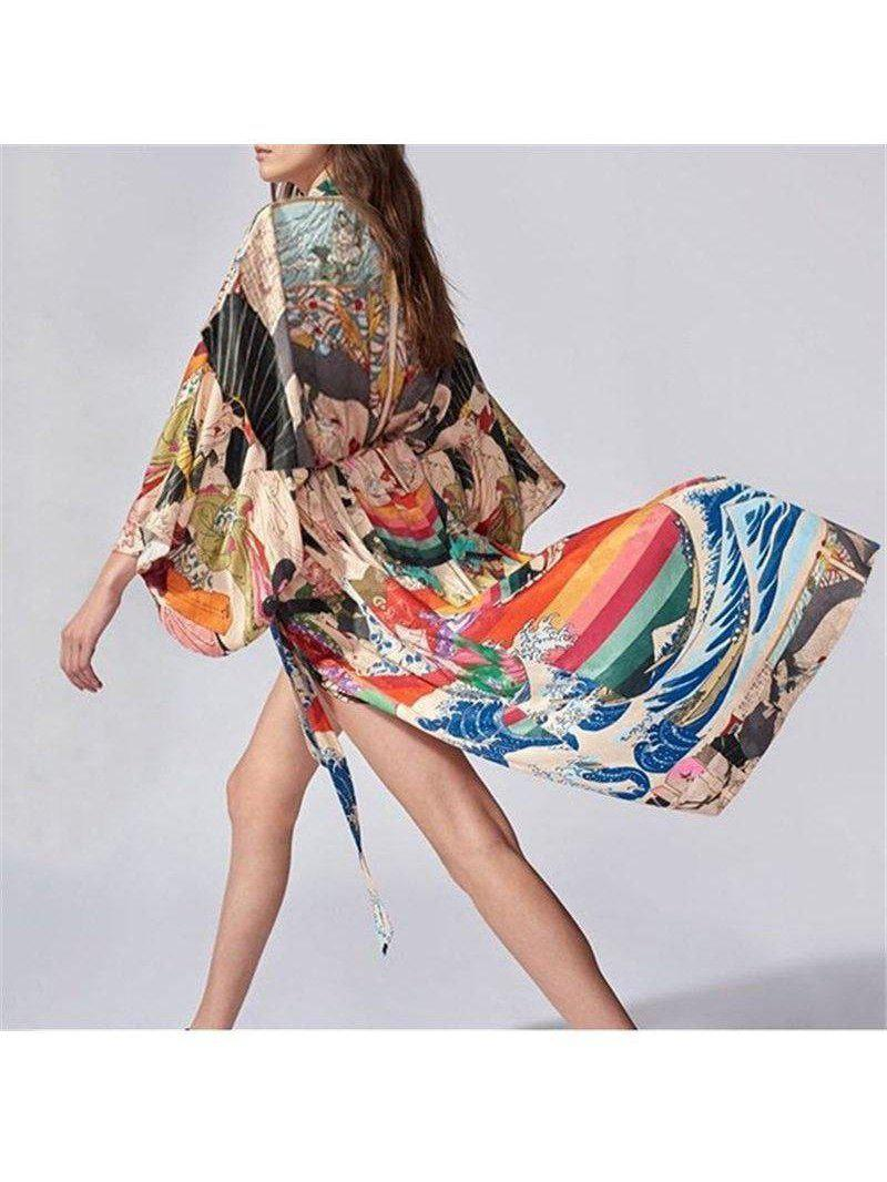 Women's Quick-drying Bohemian Printed Cotton Cover-up SatinBoutique