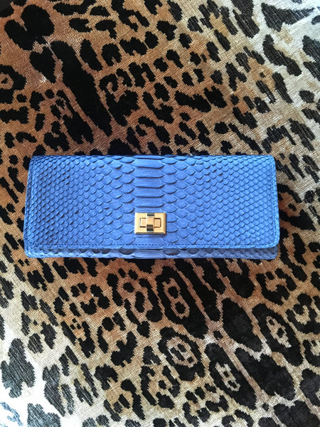 Blue Denim Python Gold Closure