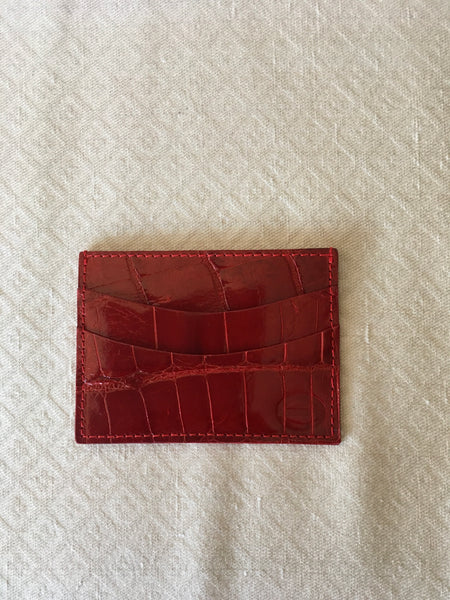 Red Glazed Card and Cash Holder
