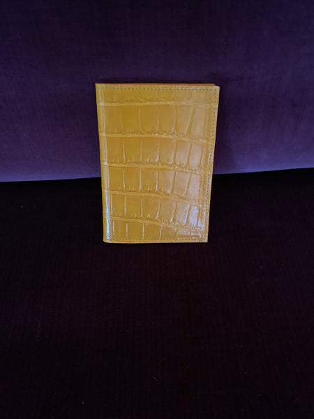 Passport Wallet in saffron croc
