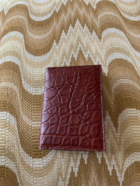 Saddle Brown Alligator Passport/Wallet