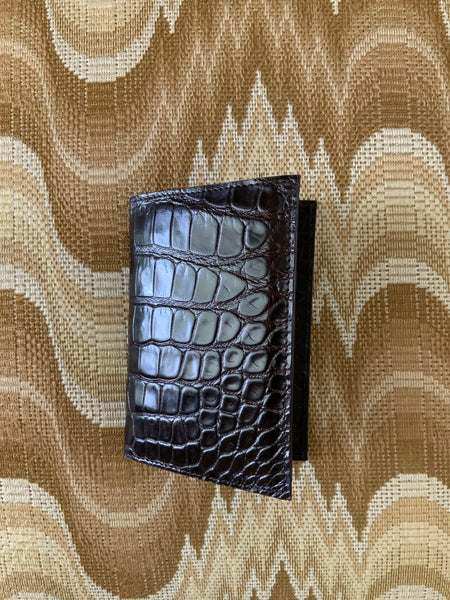 Brown alligator Passport/Wallet