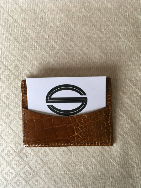 Saddle Glazed card and Cash holder