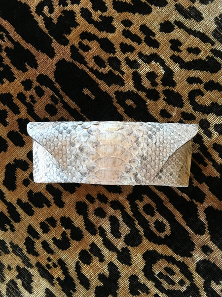 Light Natural Python Glasses Case