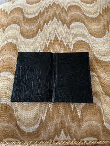 Black Ostrich Passport/Wallet