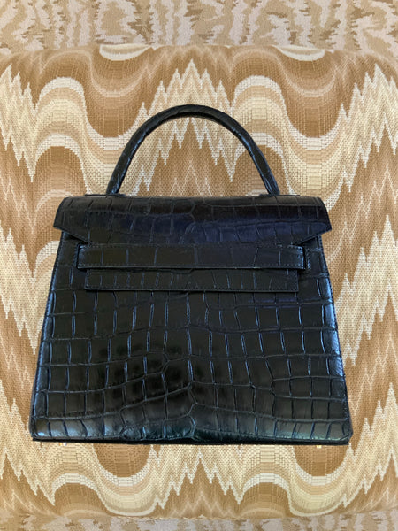 Black Alligator Maxi Tote
