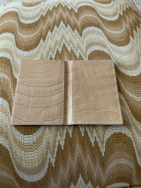 Beige Alligator Passport/Wallet