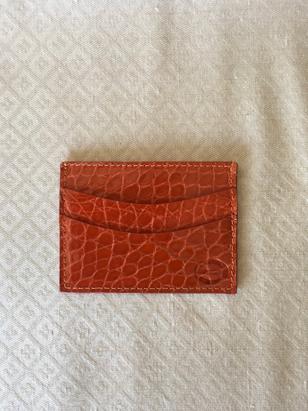 Orange Glazed Card and Cash Holder