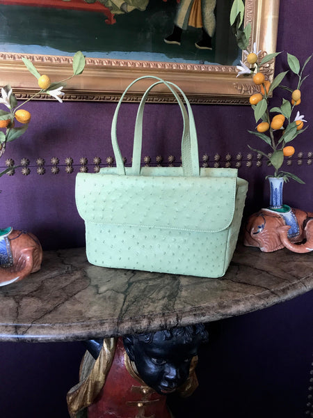 Light Mint Green Ostrich GOGO TOTE