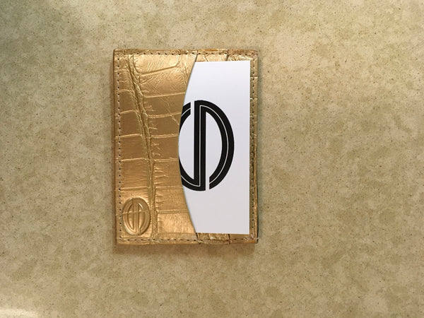Gold Matte Card and Cash Case