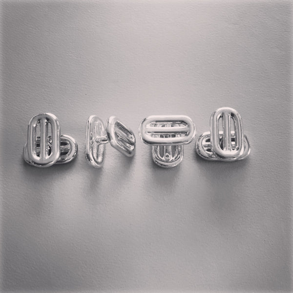 Silver 4 bar stud set