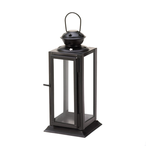 Black Colonial Rectangle Lantern