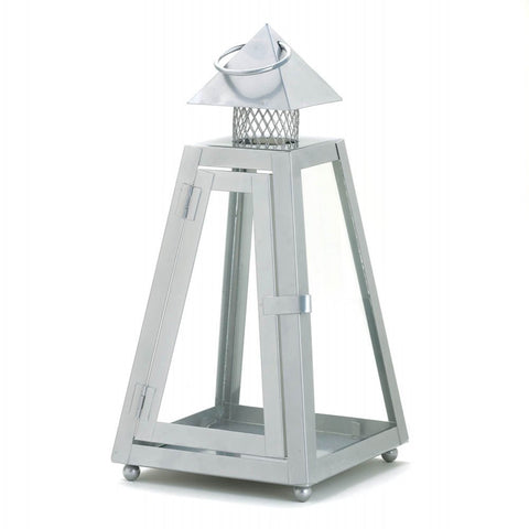 Gray Contemporary Lantern