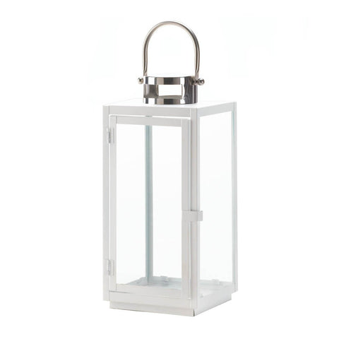Large Carrel White Lantern