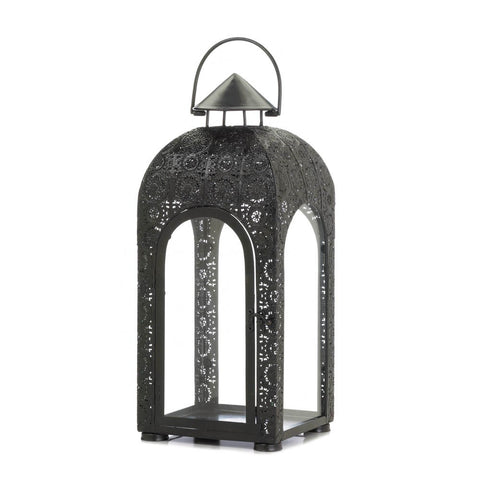 Arched Large Black Medallion Lantern