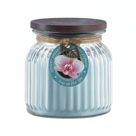 Day At Spa Ribbed Jar Candle