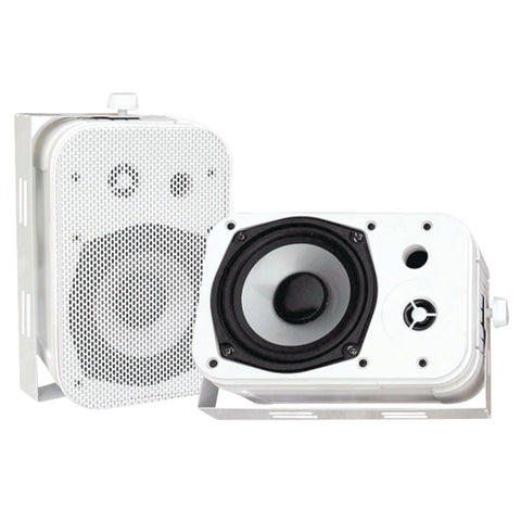 "Pyle 5.25"" Indoor And Outdoor Waterproof Speakers (white)"