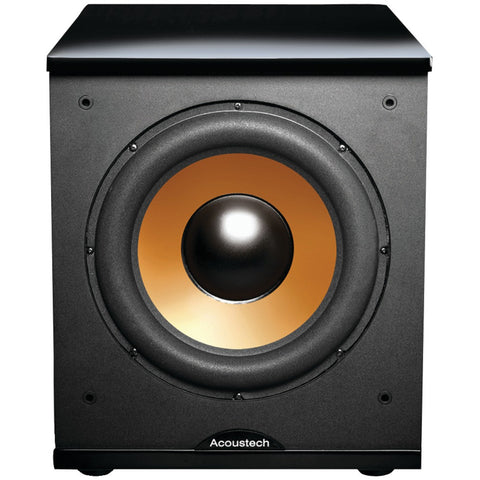 "Bic America 12"" Front-firing Powered Subwoofer With Black Lacquer Top"