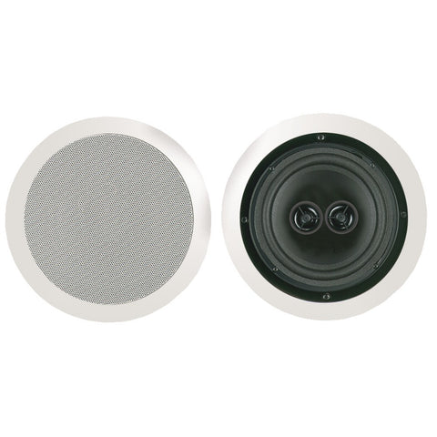 "Bic America 8"" Dual Voice-coil Stereo Ceiling Speaker"