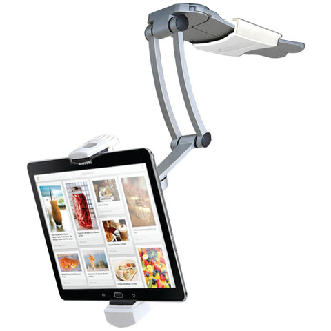 "Cta Ipad Air And Ipad Mini And Surface Pro 4 & 7""-12"" Tablets 2-in-1 Kitchen Mount Stand"