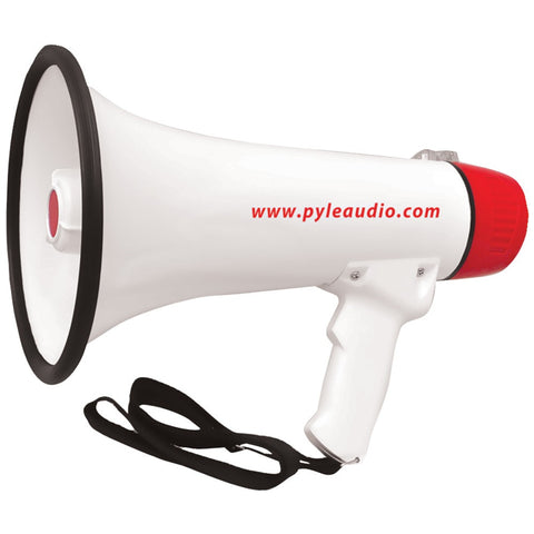 Pyle Pro 40-watt Professional Megaphone And Bullhorn With Handheld Microphone And Siren Rechargeable Battery & Auxiliary Jack