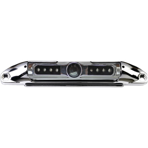 Boyo Bar-type License Plate Camera With Ir Night Vision & Parking-guide Lines (chrome)