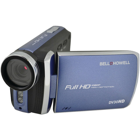 Bell+howell 20.0 Megapixel 1080p Dv30hd Fun-flix Slim Camcorder (blue)