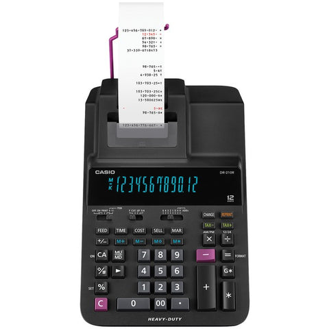 Casio Heavy-duty 12-digit Printing Calculator With Clock