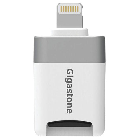 Gigastone I-flashdrive Ios Microsd Card Reader With Lightning Adapter